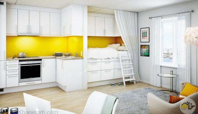 ایده هایی برای طراحی دکوراسیون خانه های کوچک…