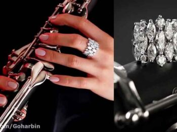 انگشتر الماس از مجموعه جواهرات عروس گوهربین