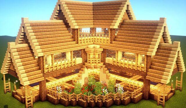 آموزش ساخت خانه لوکس به شکل در خانه در مایکرافت!!! | MineCraft
